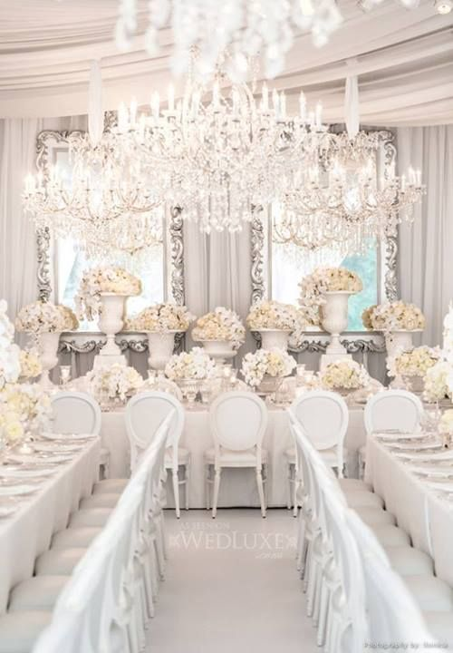 Gorgeous White Wedding Table