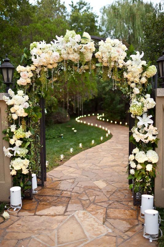 Wedding Ceremony Arch Decorated With White Flowers #2031286 - Weddbook
