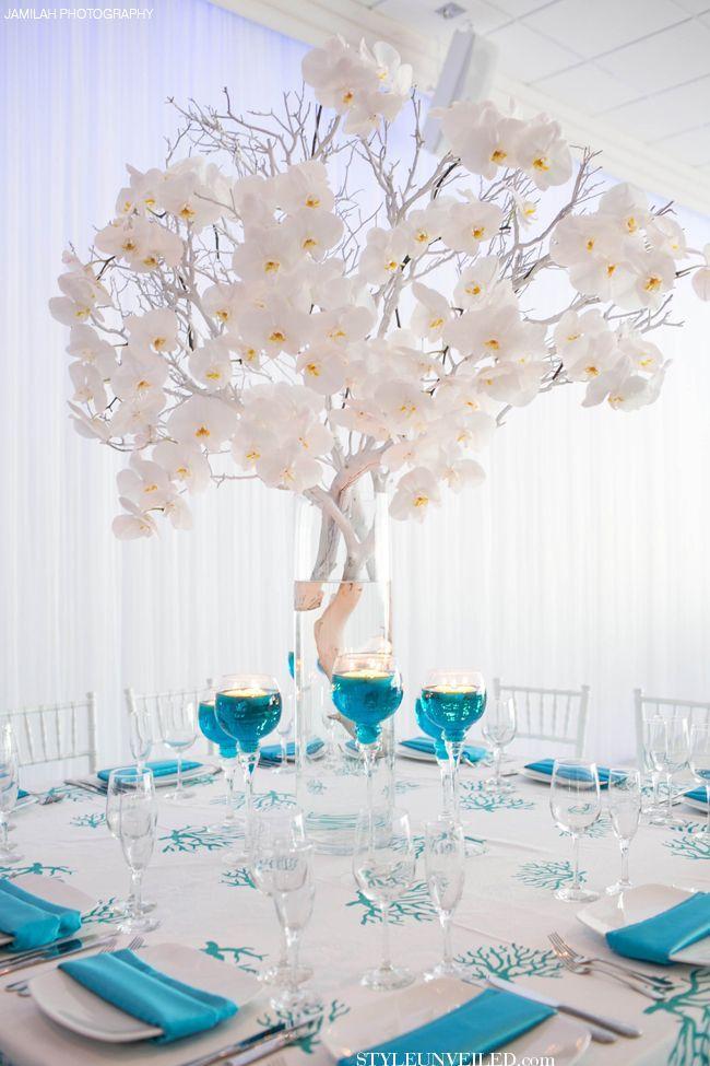 Blue Wedding Pretty Blue White Weddingreception 2032207 Weddbook