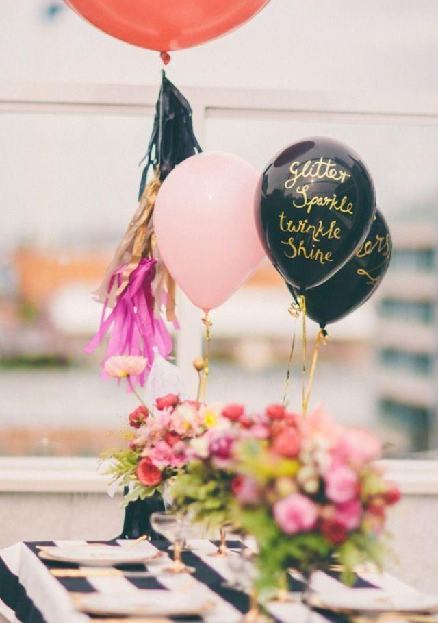 Gold Wedding Gold Writing On Black Balloons 2032703