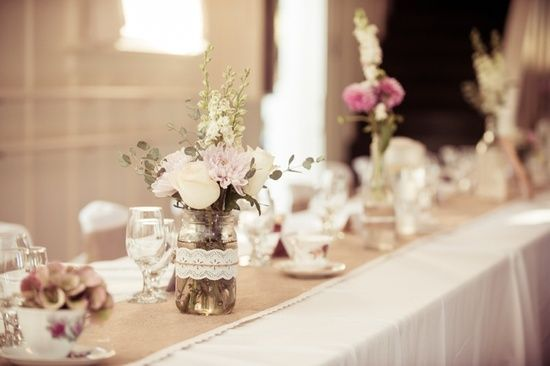 Shabby Chic Wedding Centerpiece Ideas