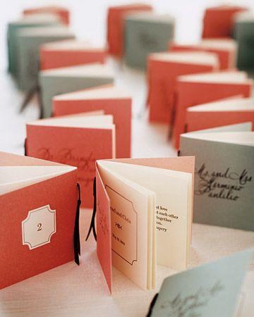 Mariage - Devis Livres faveurs / Cartes Escort