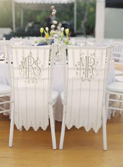 Hochzeit - Hochzeitsstühle-Bride & Groom