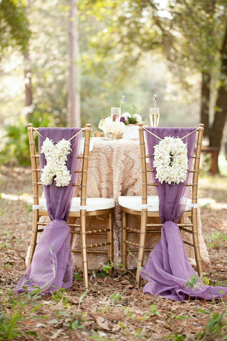 Свадьба - Деревенский Шик Шампанское И Фиолетовый Свадебные Вдохновение