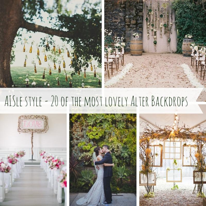 Wedding Altar And Aisle Decor: Altar Backdrops #2033489