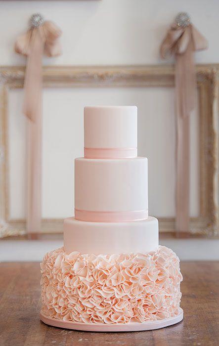 Wedding - Such A Pretty Blush Wedding Cake