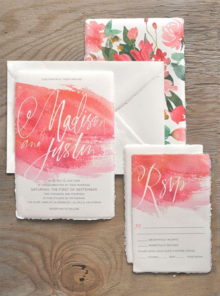 Wedding - Watercolor Invitation Suite