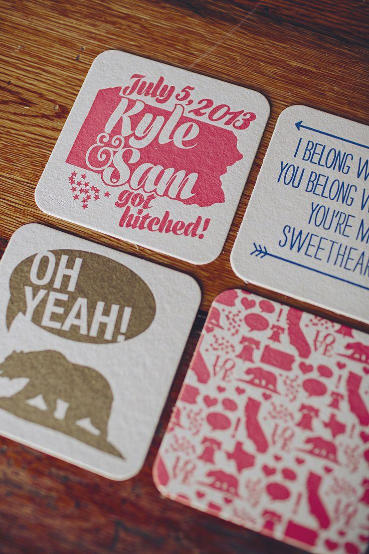 Wedding - Custom Coasters By Brooke Courtney.