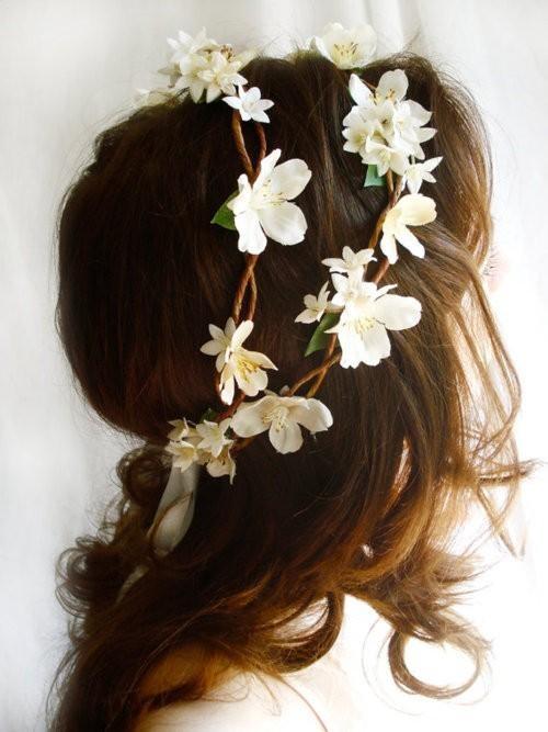 Свадьба - Цветочница Прическа
