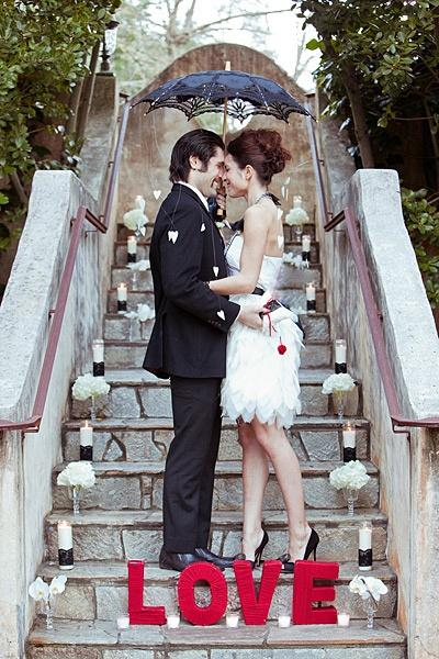 Wedding - Red, Black And White Wedding Ideas