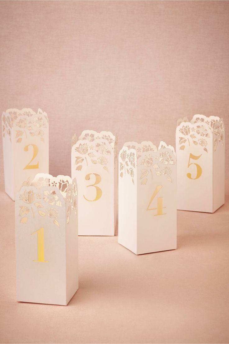 Mariage - Lasercut Nombre table Luminaires