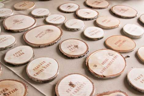 Wedding - Placecards From Birch Tree
