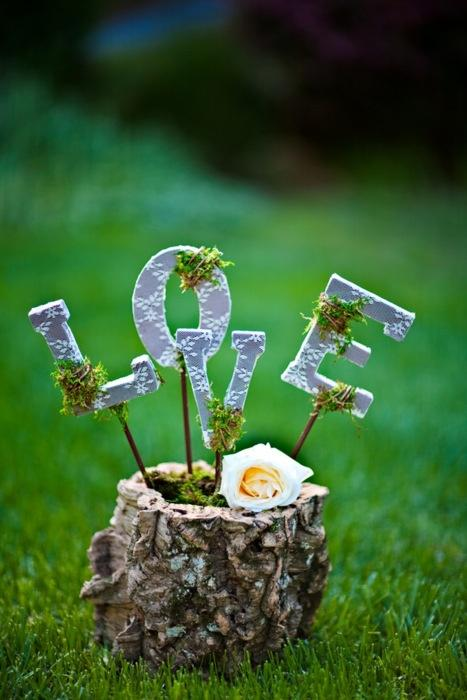 Country Wedding Centerpiece / Decor Idea #2038213 - Weddbook