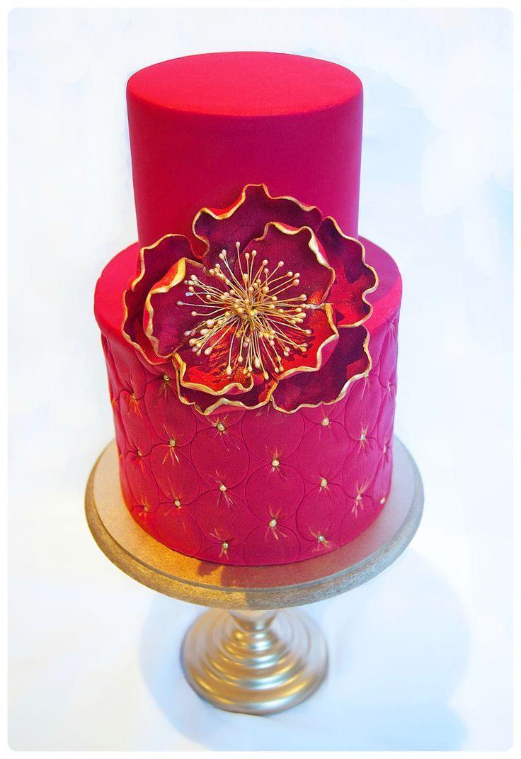 Fuchsia Wedding - Fuchsia And Gold Cake - So Striking #2038446 ...