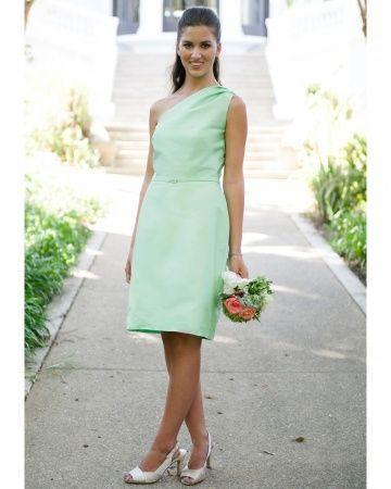 Свадьба - Короткая Зеленая Мята Платье Анны Elyse