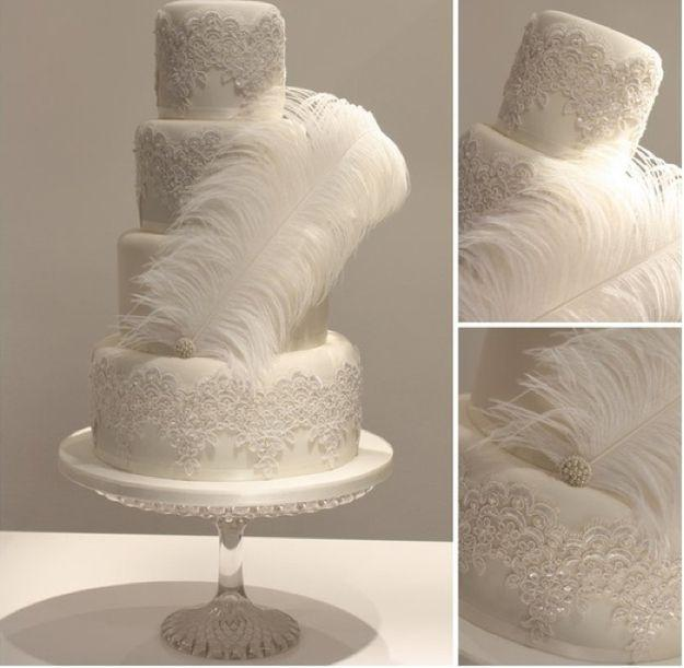 The Not So Great Gatsby Wedding Cake