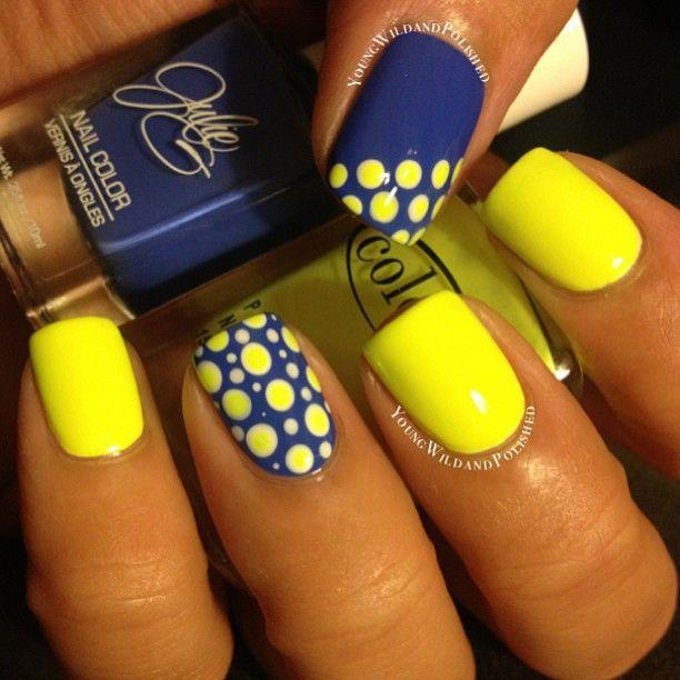 Дизайн ногтей с желтыми