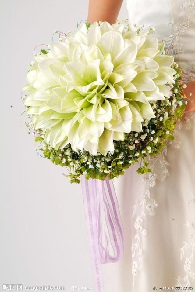 Wedding Bouquet - Glamelia White Lily Wedding Bouquet #2040027 ...