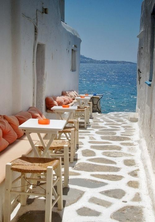 Hochzeit - Seaside Cafe, Mykonos, Griechenland