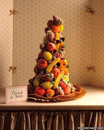 زفاف - الفاكهة كعكة الزفاف