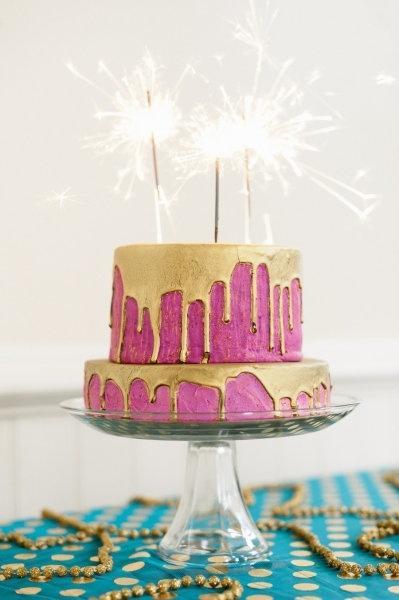 Hochzeit - Gold-Drip-Kuchen, Sehr Dr. Seuss ...