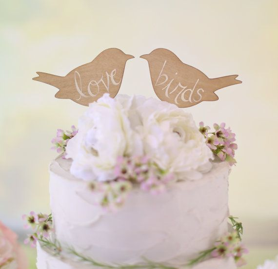 Chic Wedding Cake Toppers Birds