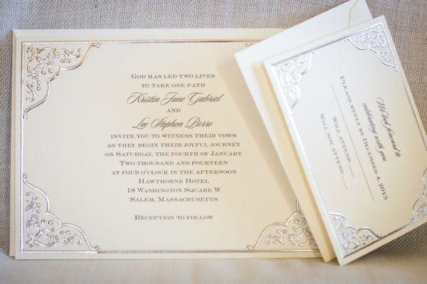 Mariage - Invitation de mariage et carte de réponse