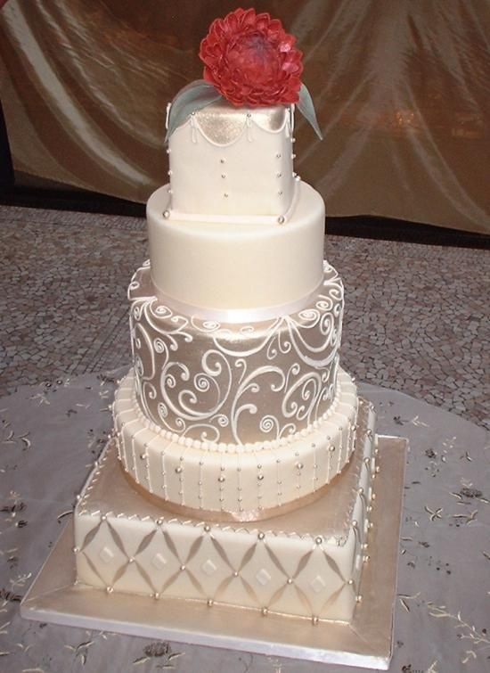 Cake Ideas With Fondant : Fondant Cake - Fondant Wedding Cake #2040610 - Weddbook