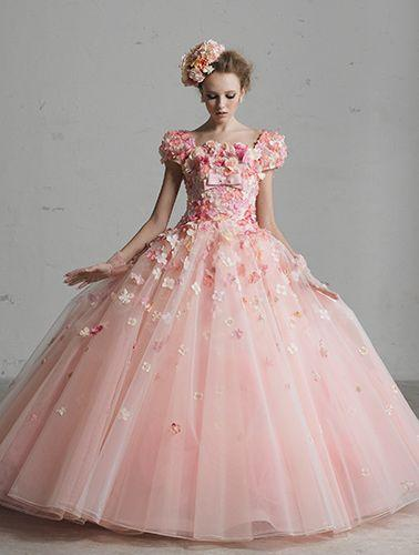 Satin pink wedding dress for the princess 2040668 weddbook for Pink wedding dresses pictures