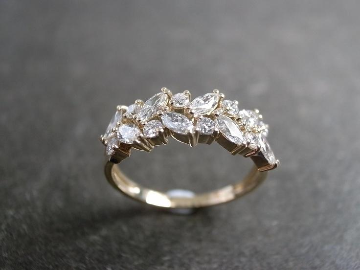 Marquise Diamond Wedding Ring In 14K Yellow Gold 2040705 Weddbook