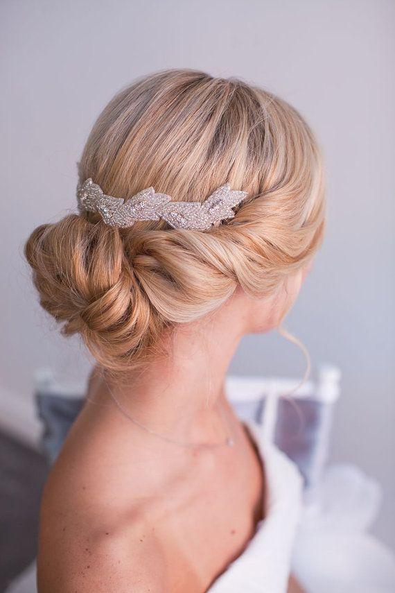 JEWELL, Beaded Wedding Headpiece, Bridal Hair Piece, Hair Clip ...