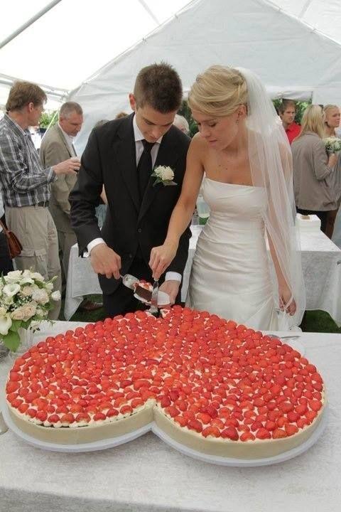Hochzeit - Herz-Form-Hochzeitstorte