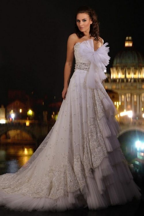 Sophisticated White Wedding Gown By Abed Mahfouz