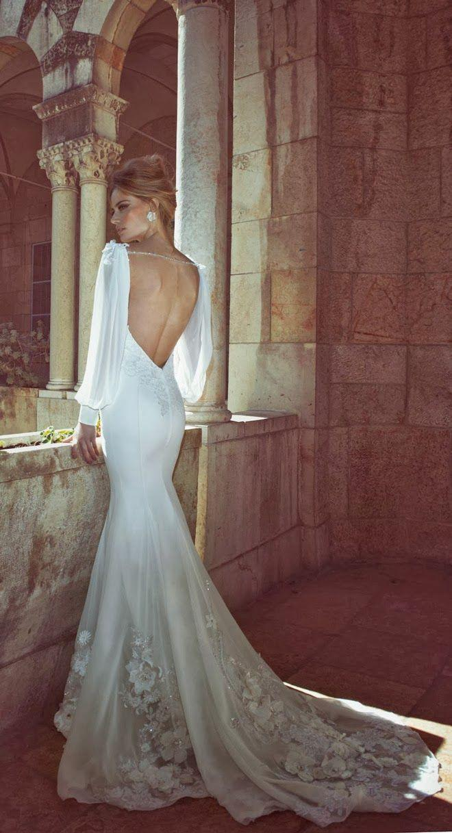 Gorgeous Mermaid Wedding Dresses : Gorgeous mermaid style white wedding dress weddbook