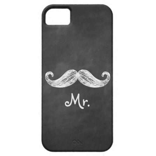 Hochzeit - Mr. Mustache Auf Tafel iPhone 5 Case-Mate ID
