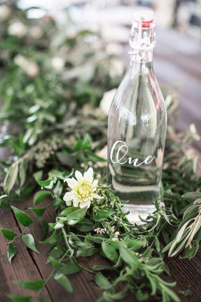 Hochzeit - Bottle-Tabellen-Zahlen