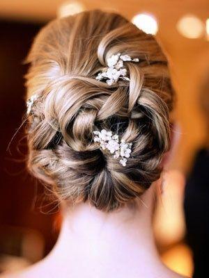 Coiffure de coiffure mariage / nuptiale