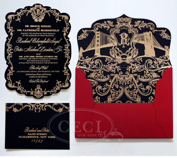 Mariage - Black & Gold papeterie de mariage