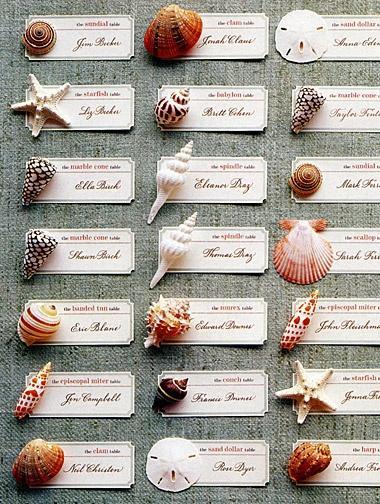 Wedding - Beach Themed Place Cards