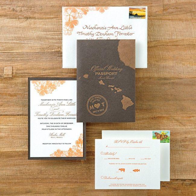 Destination Passport Wedding Invitations 2041448
