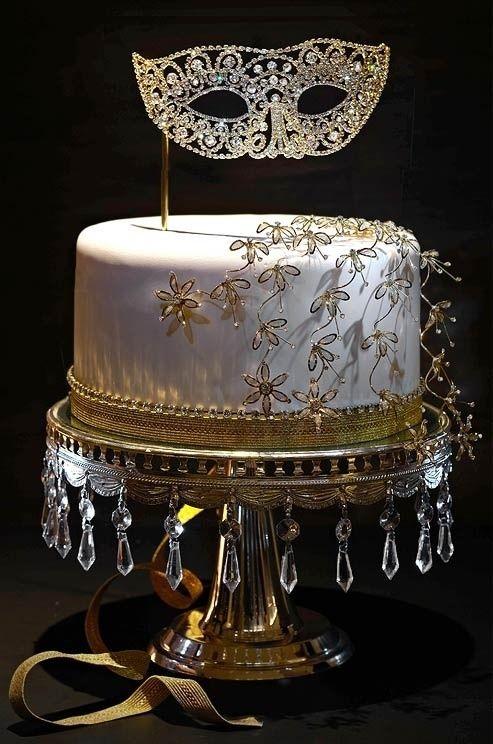Wedding Cakes - Mardi Gras Wedding Cake #2041580 - Weddbook