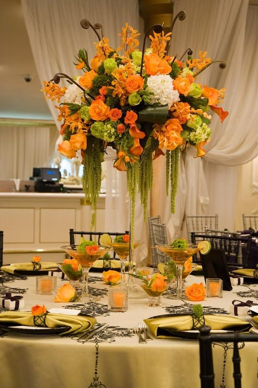 Wedding - Tangerine Tablescape