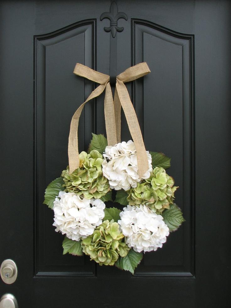 Mariage - Couronnes - Hydrangea Guirlande - Couronnes pour toutes les saisons - Eté Hortensias - Couronnes été - Hydrangea Blooms