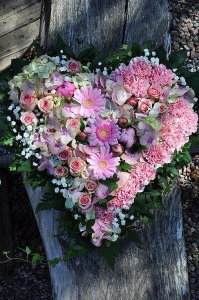 Свадьба - Сердце Розовые Цветы