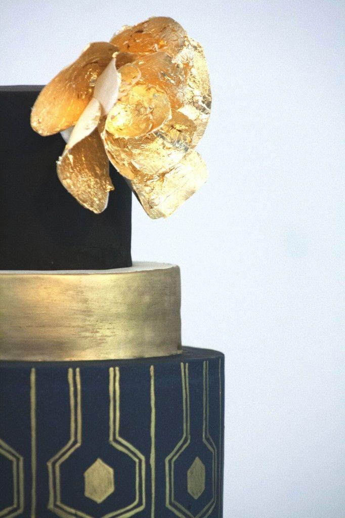 Art Deco Wedding Cake Black And Gold : 20s Wedding - Wedding GREAT Gatsby & Art Deco Styles ...