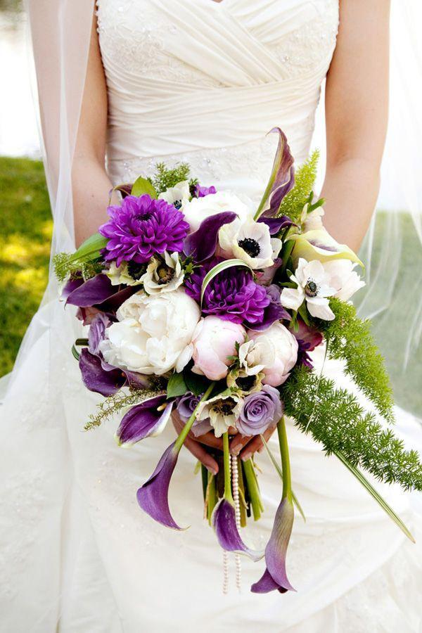 Purple Wedding - Purple And White Bouquet #2042962 - Weddbook