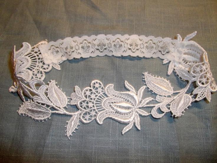 Hochzeit - Floral Venise Lace Hochzeitsstrumpfband