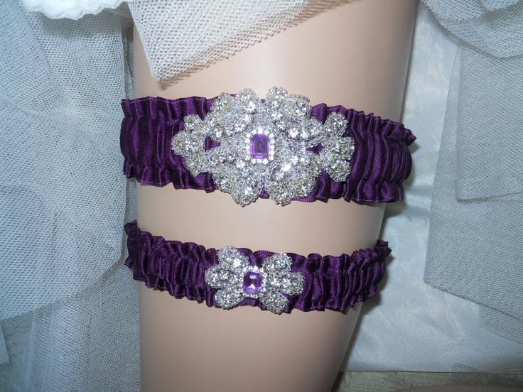 Свадьба - Фиолетовый Свадебная Подвязка