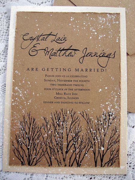 Winter Hochzeit   Schöne Winter Hochzeits Einladung #2043935, Einladungs
