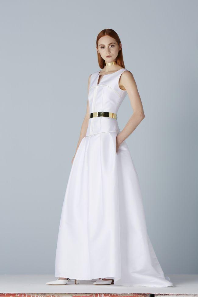 White Satin Dresses 2014